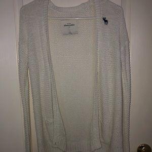 Abercrombie White Knit Cardigan